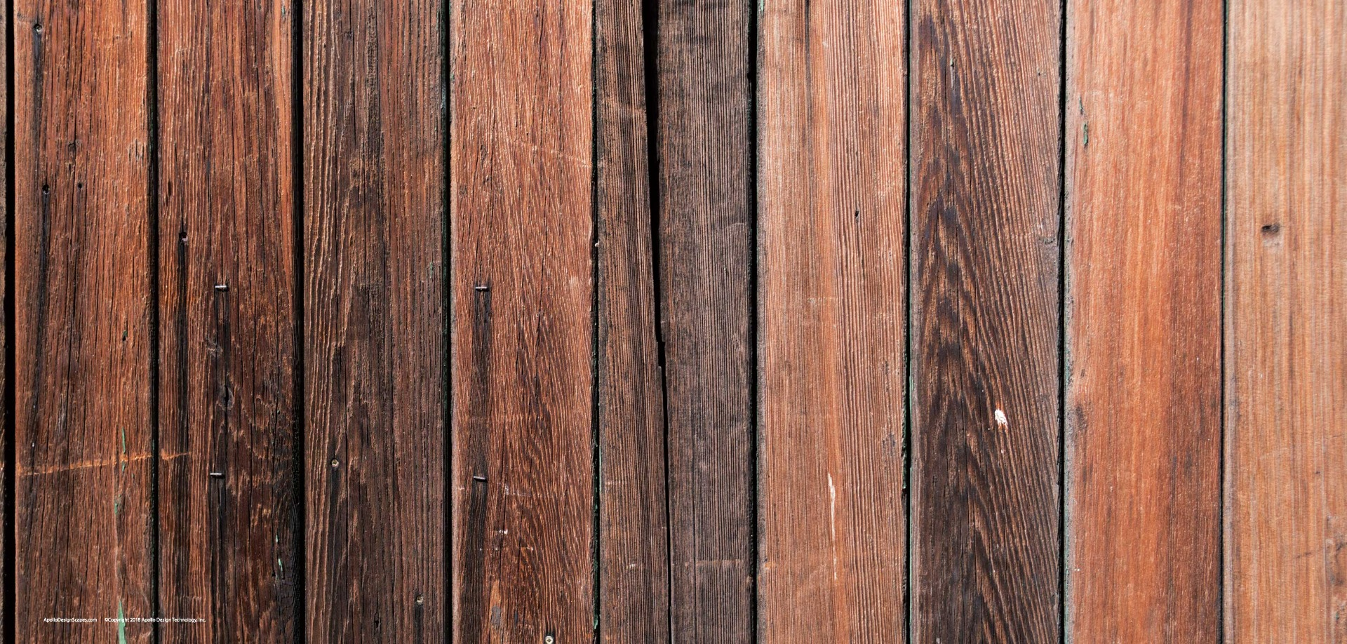 Panel of Redstained aged wood.